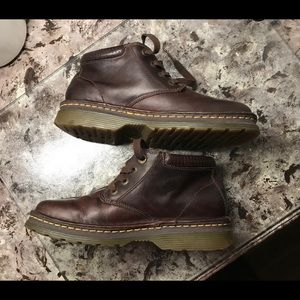 Dr. Martens leather unisex boots brown